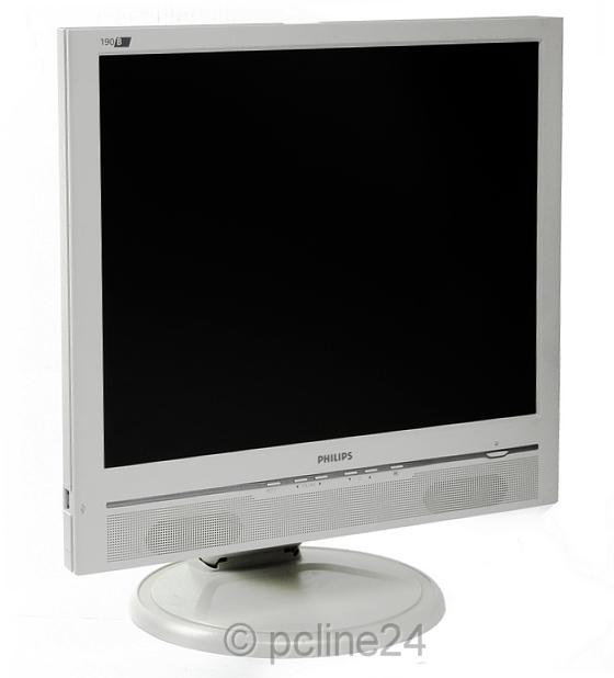 """19"""" TFT LCD PHILIPS 190B6 VGA DVI Monitor mit Lautsprecher"""