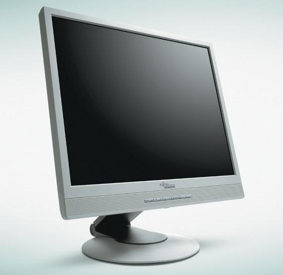 """20"""" LCD TFT Fujitsu Siemens SCENICVIEW P20-2 DVI-D VGA Pivot 1600x1200 vergilbt"""