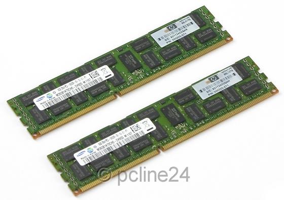 16GB HP 2x 8GB PC3-10600R DDR3-SDRAM 1333MHz ECC registered 500205-071
