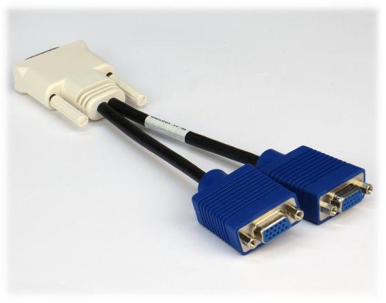 DMS-59 auf/to 2x VGA Y-Kabel Adapterkabel
