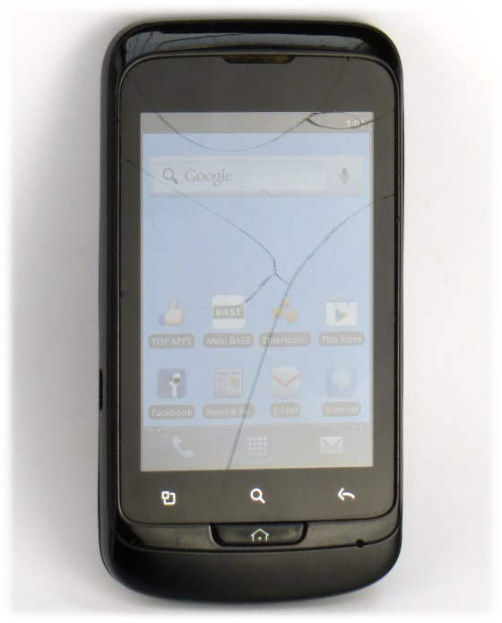 Alcatel One Touch 918D Smartphone schwarz C- Ware