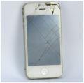 Apple iPhone 4s 32GB weiß (Apple-ID gesperrt, Glasbruch,ohne Ladegerät) C-Ware