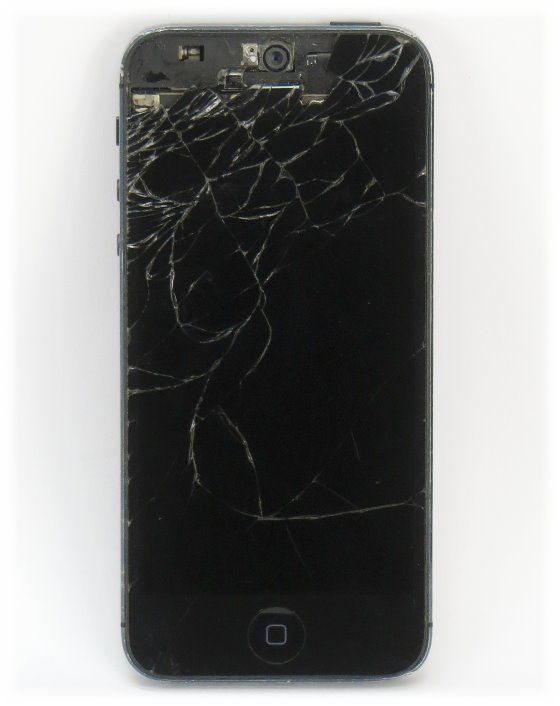 Apple iPhone 5 schwarz 32GB Smartphone C- Ware (Apple ID gesperrt) Glasbruch