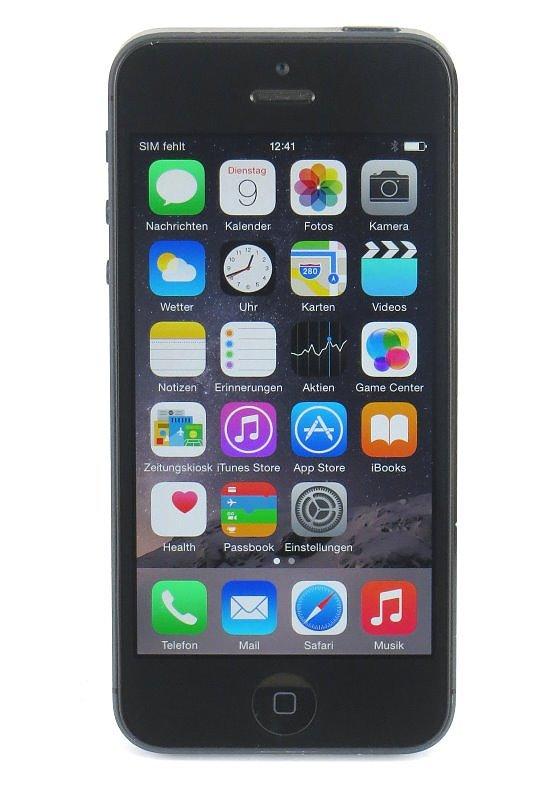 Apple iPhone 5 schwarz 32GB Smartphone B- Ware (Apple ID gesperrt)