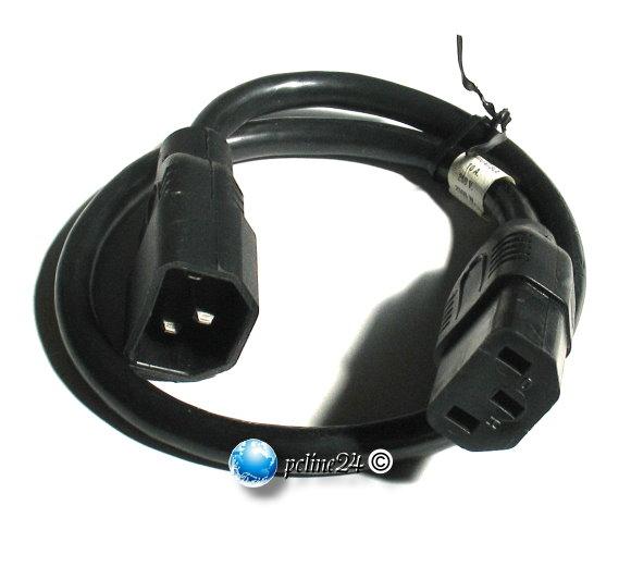 Stromverlängerungskabel C13/C14 10A 0,5m 50cm