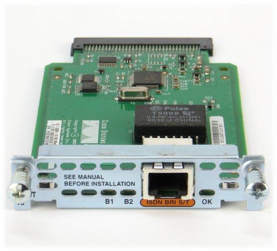 Cisco WIC-1B-S/T-V3 1-port ISDN BRI S/T WAN Interface Card Karte
