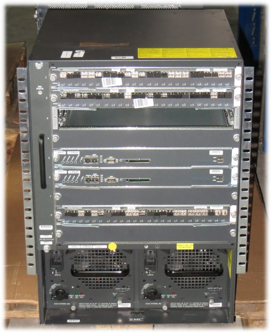 Cisco DS-C9509 19 Zoll Rack MDS 9500 Series 3x DS-X9224-96K9 2x DS-X9530-SF2-K9