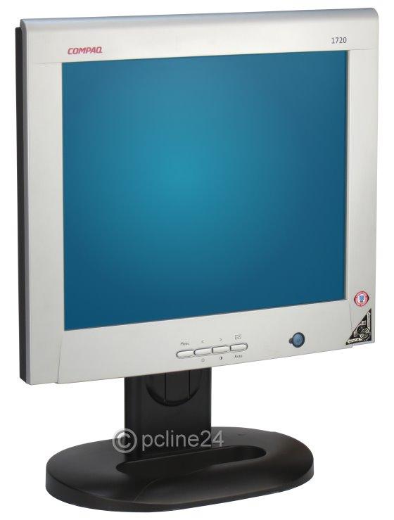 """17"""" TFT Compaq 1720 D5064D DVI-I VGA PIVOT ohne Netzteil B-Ware Bildfehler"""