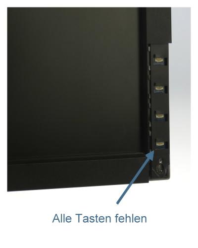 """19"""" TFT LCD Dell 1909Wb 1440 x 900 Pivot Monitor Menü-Tasten fehlen"""