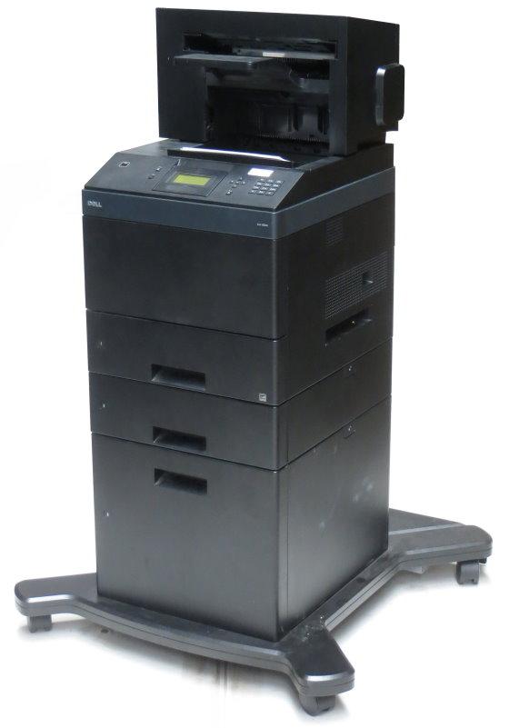 Dell 5350dn 48 ppm 128MB Duplex LAN Laserdrucker 2.PF 550 + 2000 Blatt 180.000 Seiten