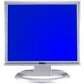 """19"""" TFT LCD DELL 1907FPvt 1000:1 Silber VGA DVI-D USB Pivot B-Ware Display-Bildfehler/Kratzer"""