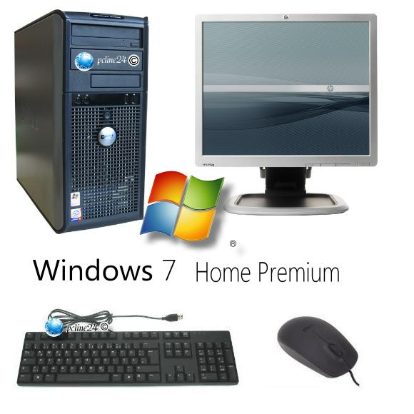 komplett pc system dell 740 dual core athlon monitor hp. Black Bedroom Furniture Sets. Home Design Ideas