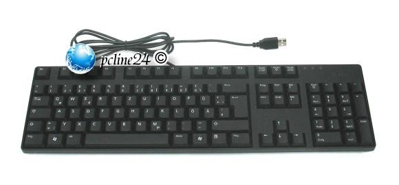 Dell KB1421 Tastatur deutsch USB 2.0 schwarz 0M381H