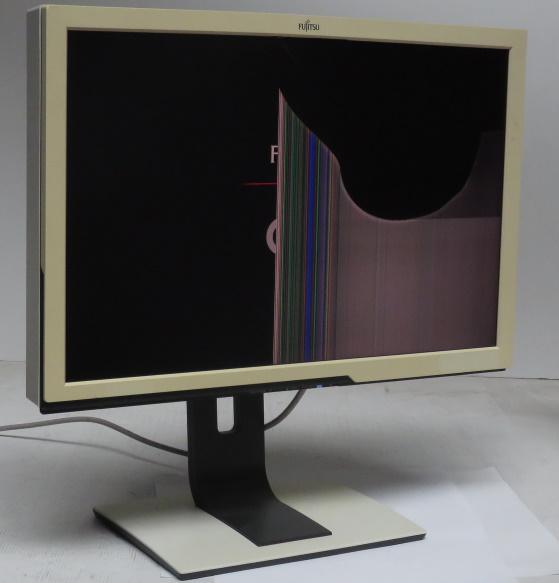 "24"" Fujitsu Siemens SCENICVIEW P24W-5ECO defekt Displaybruch vergilbt C-Ware"