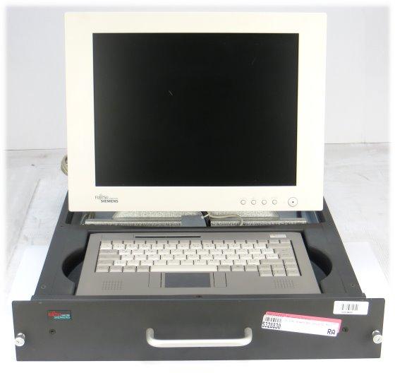 """Fujitsu Siemens Rack Console 15"""" TFT mit Tastatur deutsch und Touchpad"""