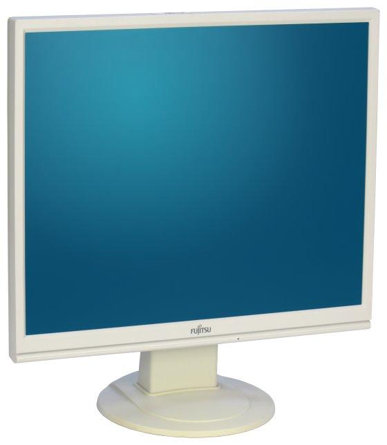 "19"" TFT LCD Fujitsu E19-9 1280 x 1024 D-Sub DVI-D Monitor vergilbt"