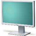 "24"" TFT LCD FSC ScenicView A24W-3A 1920 x 1200 Monitor vergilbt mit Lautsprecher"