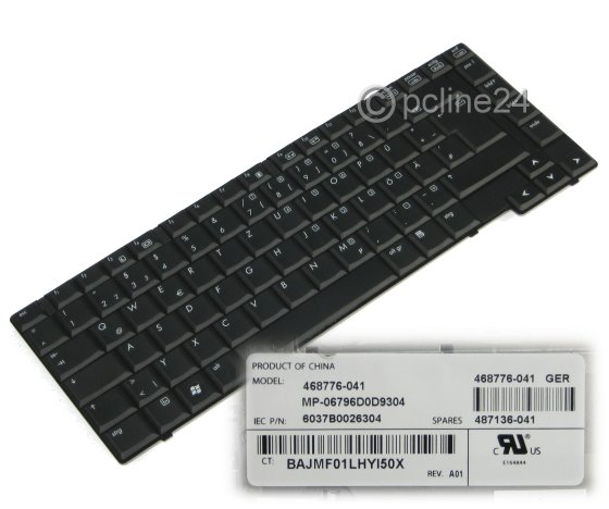 original HP Tastatur deutsch für 6730b/6735b DE keyboard 468776-041
