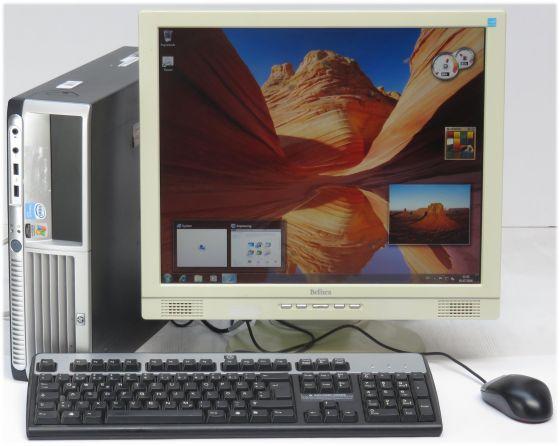 Anfänger Schüler Komplett PC HP DC7700 3,2GHz + 19 Zoll Monitor + Windows 7 Home