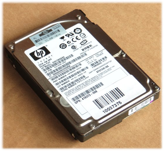 "2,5"" HP DH072ABAA6 72GB 15K SAS HDD ST973451SS"