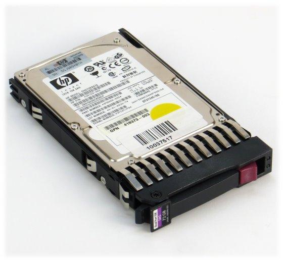 "2,5"" HP DH072BB978 72GB 15K SAS HDD ST973451SS Festplatte im Hot Swap Tray"