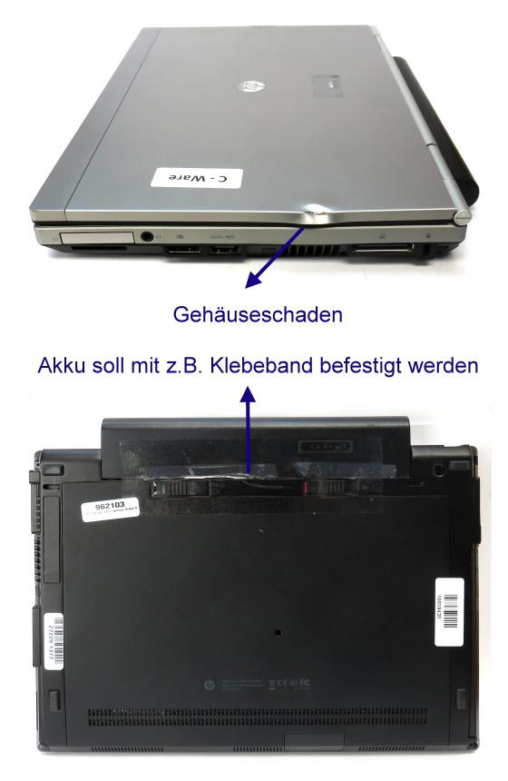 "12,5"" HP EliteBook 2570p Core i5 3320M @ 2,6GHz 8GB 128GB SSD UMTS Webcam C-Ware"