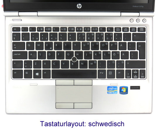 "12,5"" HP EliteBook 2570p Core i5 3320M @ 2,6GHz 8GB 128GB SSD schwedisch Webcam"