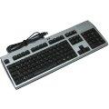 HP KUS0133 Tastatur USB deutsch silber-schwarz mit Chipkartenleser