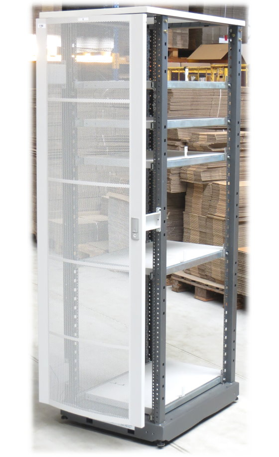 HP Rack A4902A Serverschrank 40HE/40U auf Rollen mit 5x Zwischenboden ausziebar