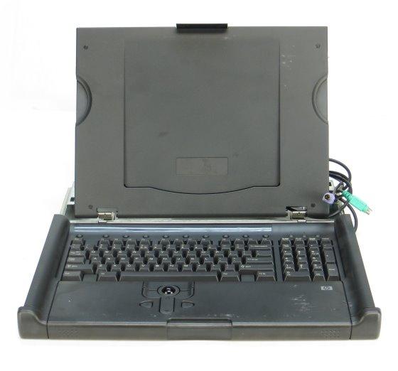 HP TFT5600 RKM US Tastatur mit Trackballmaus PS/2 ohne Scharnierabdeckungen B- Ware