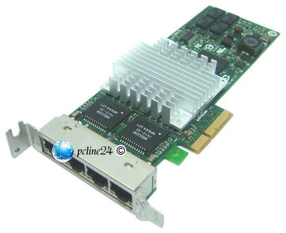 HP NC364T 4-port Gigabit Netzwerkkarte PCIe x4 low Profile 436431-001