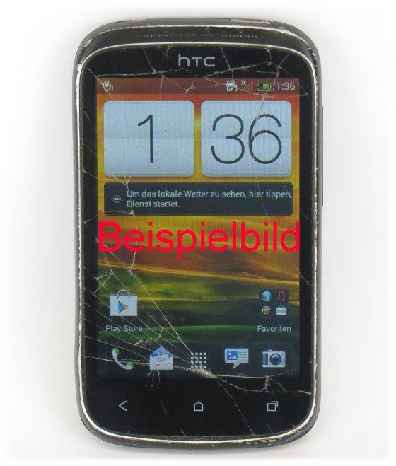 HTC Desire C 4GB Android Smartphone C- Ware Glasbruch SIMlock-frei