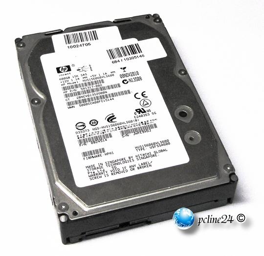 Hitachi HUS156060VLS600 600GB 15K SAS 6G 6Gbps HDD Festplatte