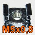 Käfigmutter M5 16Stk. M5x0,8 Mutter für Serverschrank Server