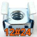 Käfigmutter 12/24 Nut 12#24 16x Mutter für Serverschrank Server