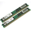 Kingston 1GB (2x512MB) PC2-5300U DDR2 667MHz KVR667D2N5K2/1G Very Low Profile