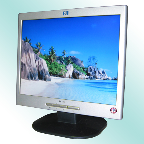 "15"" TFT LCD Monitor HP L1502 400:1 Silber-Schwarz 23ms"