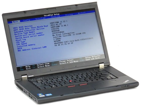 Lenovo ThinkPad T530 Core i5 3210M @ 2,5GHz 4GB 500GB Webcam ohne Akku B-Ware