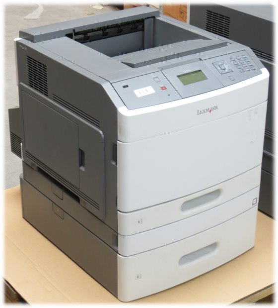 Lexmark T650dtn 43 ppm 128MB Duplex LAN 57.850 Seiten Laserdrucker