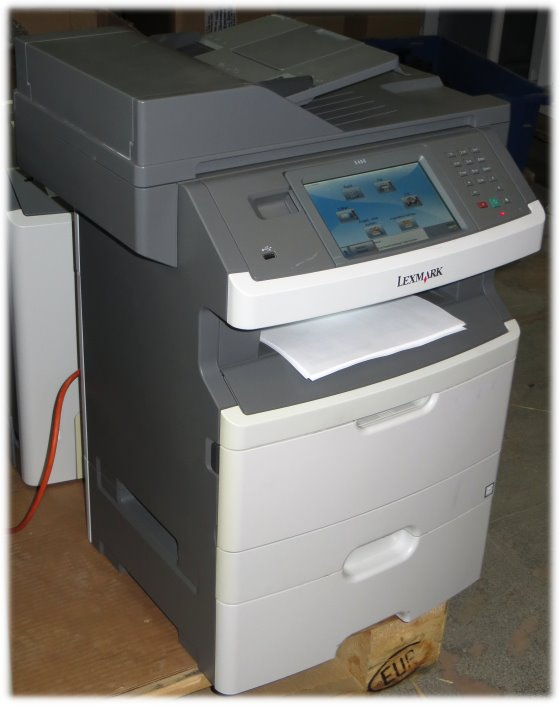 Lexmark X466dte All-in-One FAX ADF Duplex Kopierer Scanner Drucker LAN 144.950 Seiten