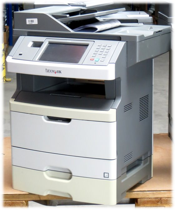 Lexmark X466dte All-in-One FAX ADF Duplex Kopierer Drucker LAN 46.600 Seiten vergilbt