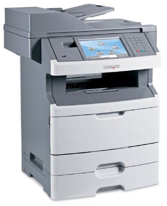 Lexmark X466dte All-in-One FAX ADF Duplex Kopierer Scanner Drucker LAN 117.500 Seiten