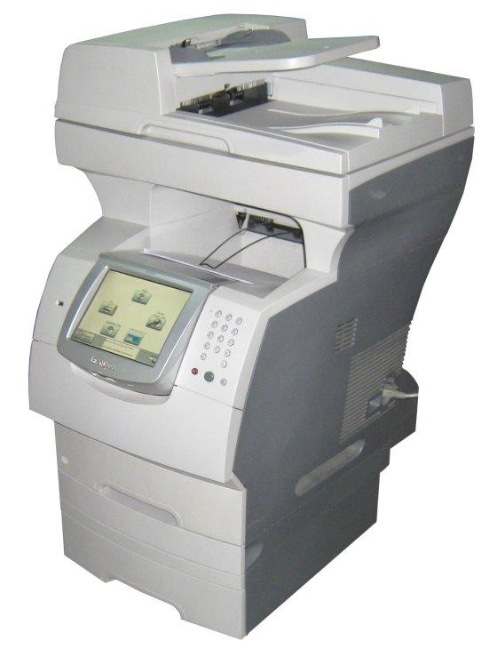 lexmark x646e all in one fax kopierer scanner laserdrucker. Black Bedroom Furniture Sets. Home Design Ideas