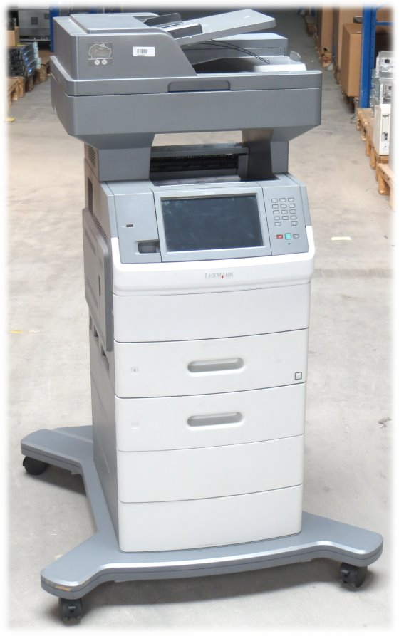 Lexmark X656dte All-in-One FAX Kopierer Scanner ADF Duplex Laserdrucker B-Ware