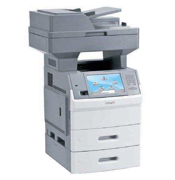 Lexmark X656dte All-in-One FAX Kopierer Scanner ADF Duplex Laserdrucker ohne Toner