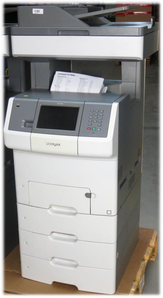 Lexmark X736dte All-in-One FAX Drucker Kopierer Scanner ADF Duplex