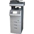 Lexmark X738dte All-in-One FAX Kopierer Scanner ADF Duplex Laserdrucker ohne Toner/Trommel