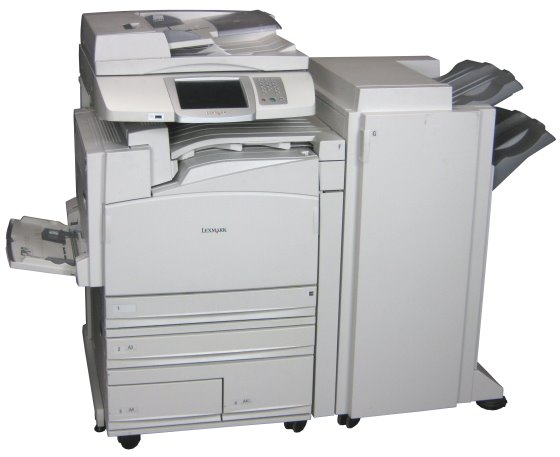 lexmark x945e din a3 farblaserdrucker fax kopierer mit adf. Black Bedroom Furniture Sets. Home Design Ideas