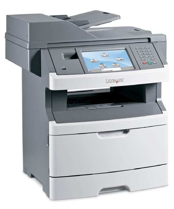 Lexmark X466de All-in-One FAX ADF Duplex Kopierer Scanner LAN 66750 S. vergilbt