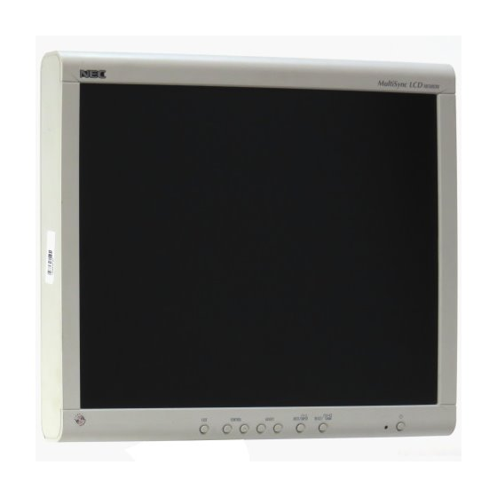 "18"" TFT NEC MultiSync LCD 1850DX 1280 x 1024 Monitor ohne Standfuß B- Ware"